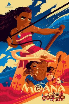 'Moana' (Dawn Variant Edition) by Tom Whalen