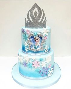 Disney Princess Birthday Cakes, Frozen Themed Birthday Cake, Frozen Themed Birthday Party, Disney Frozen Birthday, Themed Cakes, Puppy Birthday Cakes, Birthday Cake Girls, 4th Birthday, Frozen Castle Cake