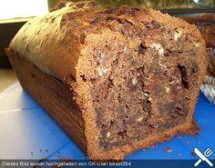 Schokobananenkuchen, halbe Masse, 3 Babanen für Kastenform