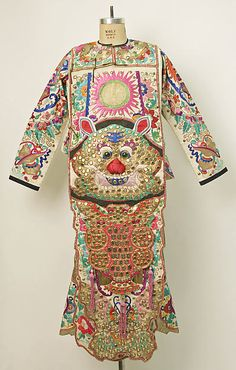 Theatrical costume, 1800–1943. Chinese. The Metropolitan Museum of Art, New York. Gift of Mr. Beaumont Newhall, 1943 (C.I.43.12.85a, b) #halloween #costume