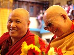 His Eminence the 10th Sangye Nyenpa Rinpoche and the Very Venerable 3rd Kyabje Tenga Rinpoche