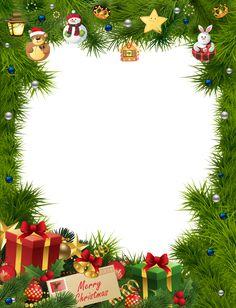 Christmas Frame Transparent PNG Image
