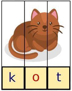 puzzle do nauki czytania Diy And Crafts, Crafts For Kids, Hama Beads Design, Alphabet Activities, Montessori, Scooby Doo, Puzzles, Back To School, Kindergarten