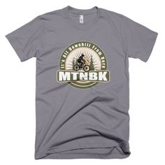 "MTNBK ""All Downhill"" T-Shirt - Slate, available at www.MTNBK.com"