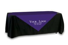 FASTEST SHIPPING! Your Logo Table Overlay - Single Color Logo