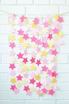 Twinkle Twinkle Little Star Paper Garland Pink Gold Girl Birthday Party Star Decor Baby Shower Cake Smash Backdrop Cheap Bridal Shower Pink Birthday Cakes, Minnie Birthday, Teen Birthday, Minnie Mouse Party, 1st Birthday Parties, Birthday Celebration, Teenager Birthday Gifts, One Year Birthday, 1st Birthday Photos
