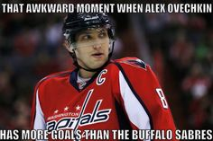 That awkward moment when Alex Ovechkin has more goals than the Buffalo Sabers. 2014-15 NHL Season #hockey