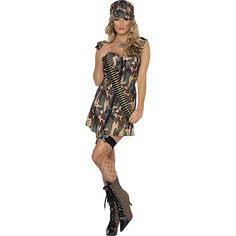 You can buy a Women's Army Girl Costume for costume parties from the Halloween Spot. This sexy army girl costume comes in Camouflage, with Dress & Hat. Army Girl Fancy Dress, Ladies Fancy Dress, Fancy Dress Up, Halloween Fancy Dress, Halloween Costumes For Girls, Costume Halloween, Fun Costumes, Adult Halloween, Halloween Christmas