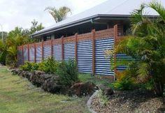 Corrugated Metal Fence Ideas