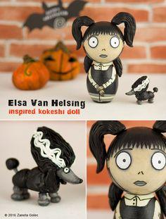 Elsa inspired kokeshi by zaneta golec by ZanetaGc.deviantart.com on @DeviantArt
