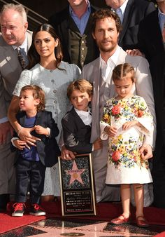 Matthew McConaughey Accepts His Walk of Fame Star With His Family by His Side