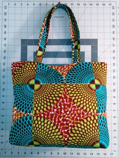African Fabric Tote bag by Mawufemor on Etsy