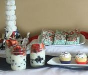 A Sweet 4th of July Party by cookies and cups