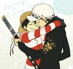 Trafalgar Law x Monkey D. Luffy #LawxLuffy #LawLu #LawLuffy #OnePiece #StrawHatPirates #HeartPirates #yaoi