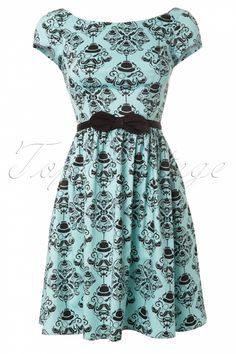 #topvintage Steady Clothing - Mr Moustache Mint Dress