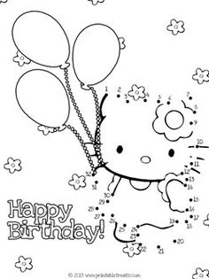 Hello Kitty Birthday Dot-to-Dot