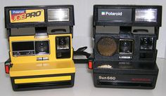 POLAROID Sun 660 Auto Focus and Job Pro Lot of 2 Polaroid Cameras Only Untested #Polaroid