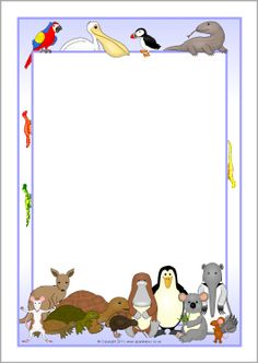 The Great Pet Sale page borders - SparkleBox Free Printable Stationery, Printable Recipe Cards, Pet Sale, Pets For Sale, Borders For Paper, Borders And Frames, Paper Clip Art, Kids Notes, Page Borders