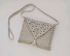 Cartera elegante tejida con ganchillo - con diagramas | Crochet y Dos agujas