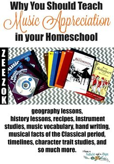 Why You Should Teach Music Appreciation in your Homeschool. Music Appreciation Curriculum. Bach, Handel, and more.