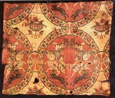 """""""Amazon"""" silk, 8th century"""