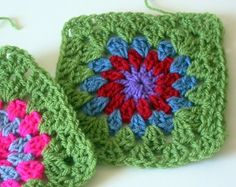 Flower Crochet Granny Square Tutorial ~ The Sunroom