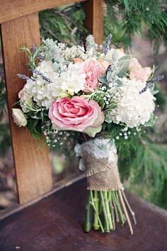 Garden wedding bouquet, Clayton Austin