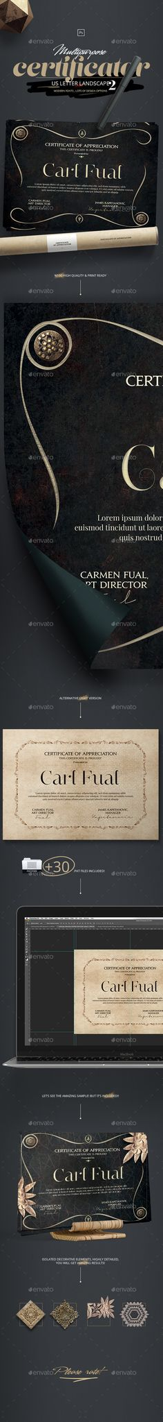 163 Best Certificate Template Design Images On Pinterest In 2018