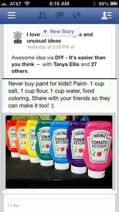 Make your own paint for kids