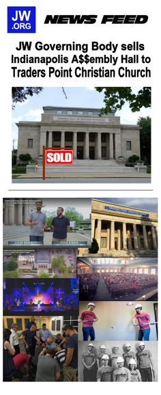 Indianapolis Assembly Hall sold Jw News, Christian Church, Jehovah's Witnesses, Beautiful Things, Real Estate, Mansions, House Styles, Building, Home Decor
