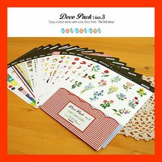 Cute Kawaii Diary Deco Stickers - Deco pack ver.3