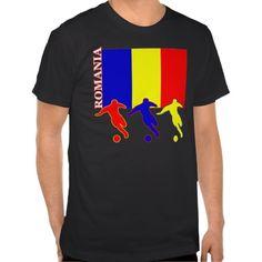 Soccer Romania Dark T-Shirt #soccer #football #futbol #tees #tshirts #shirt #fashion #sports #zazzle #romania