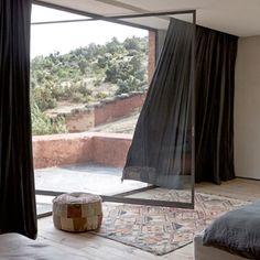 "I'm a dead set sucker for a pivot door and this centre pivot  beauty in ""Villa E"" by Studio Ko is everything  Image via http://www.studioko.fr.  #PivotDoor #ArchiInspo #InteriorInspo #InteriorDesign #BasicHabitat #StudioKo"