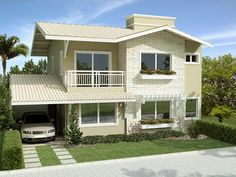 dream Homes Million Dollar Homes House Paint Exterior, Exterior Design, New Modern House, Mexico House, Two Storey House, Barbie Dream House, Home Design Plans, Big Houses, Home Projects