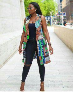 Amazing Jacket and kimono styles with Ankara – fashionFetchup African Fashion Ankara, Latest African Fashion Dresses, African Print Fashion, African Wear, African Attire, African Women, Ankara Peplum Tops, Ankara Dress Styles, African Print Dresses