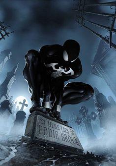Spider Man here lies Eddie Brock