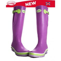 Rockfish Tri Colour Pastel Kynance Wellies - like Unit 01 boots haha