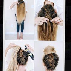 je haar in een supermooie stijl krijgen