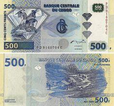 Congo Rep Democratica - 500 Francs 2002