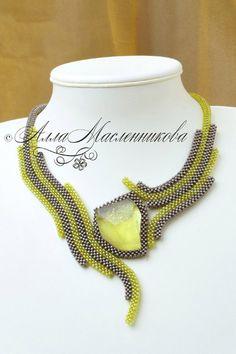 Beaded necklace by Alla Maslennicova Алла Масленникова - Украшения