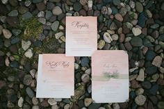 blush watercolor invitations .. Minnesota Wedding Featured On Midwest Bride Photos By Simplee Photography