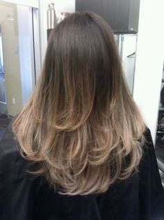 brown to pearl blonde ombre