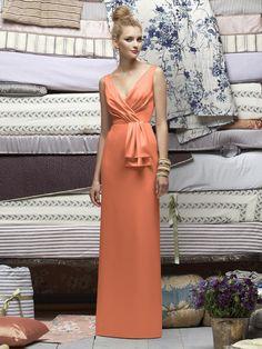 Lela Rose Bridesmaids Style LR172    #orange #bridesmaid #dress