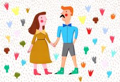 colorful love    Original Illustration by behappynow on Etsy