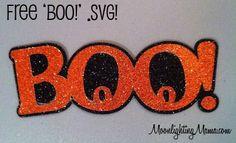 Boo! Halloween .svg cutting file