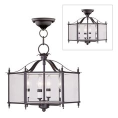 Shop Livex Lighting  4398-07 Livingston 4 Light Convertible Ceiling Light at Lowe's Canada. Find our selection of pendant lights at the lowest price guaranteed with price match   10% off.