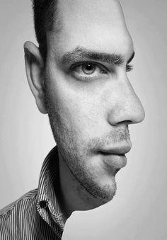 Illusion: dubbel gezicht!