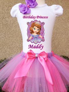Princess Sofia the First Birthday Shirt with by BirthdaysAndBows