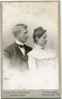 Portrait of a young couple - Germany - 1903