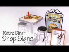 Miniature Retro Diner Shop Signs Tutorial